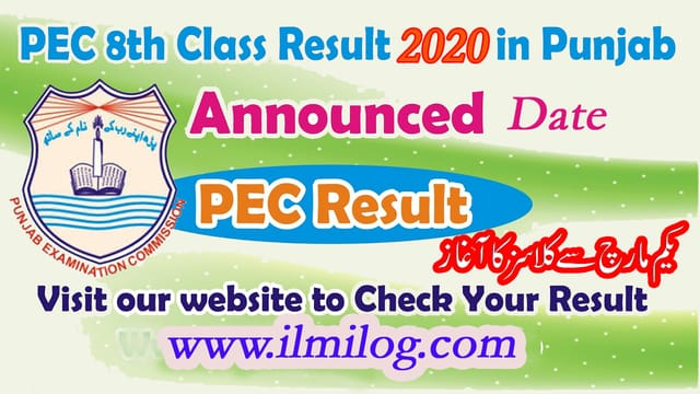 Online Result of 8th Class 2020