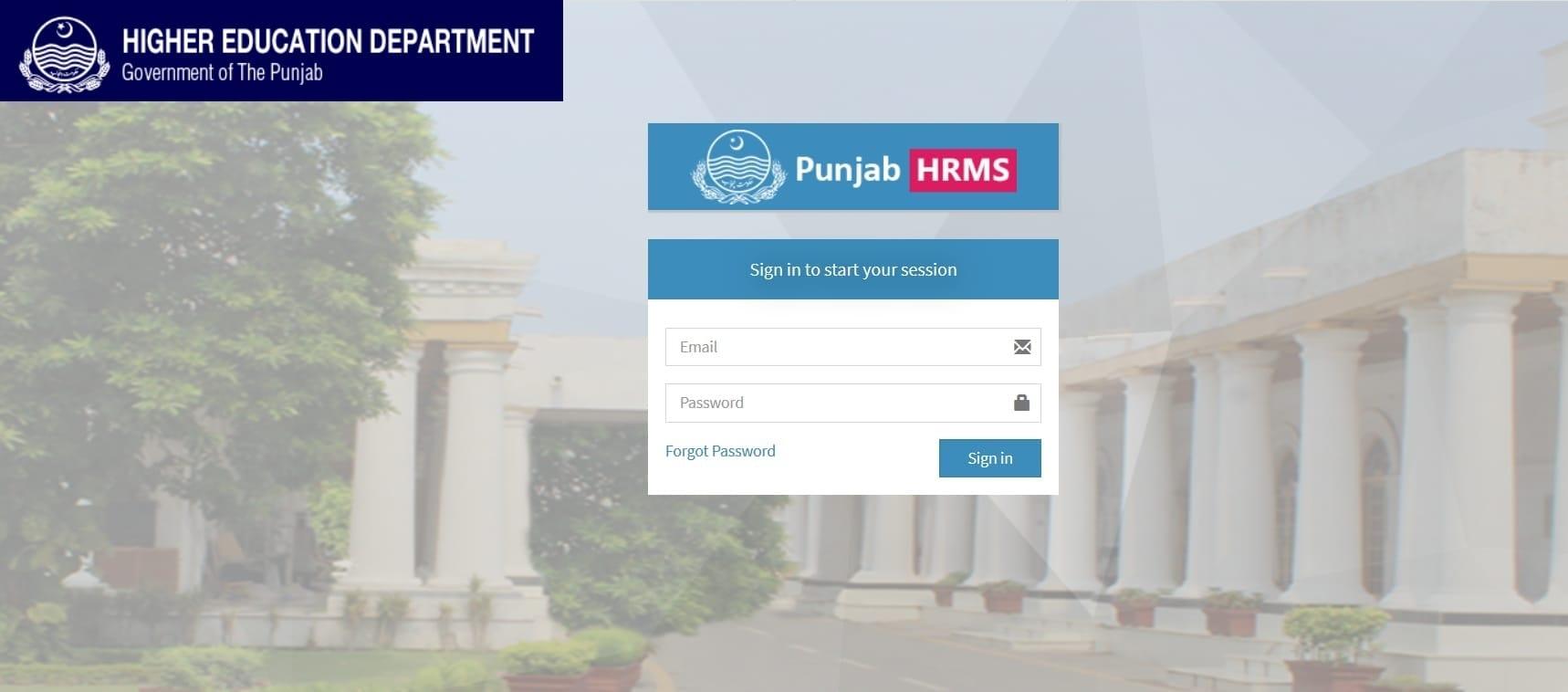 HEHR Punjab HRMS Login