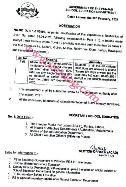 Pakistani School Education Department