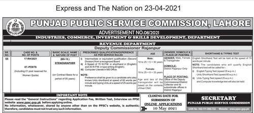 Latest PPSC Jobs 2021