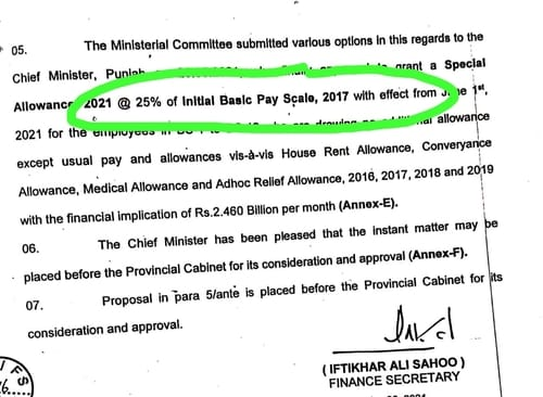 Special Allowance 25% Increase on Initial Basic Pay Chart 2017